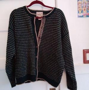 Vintage Woolrich Deep Green Sweater Cardign